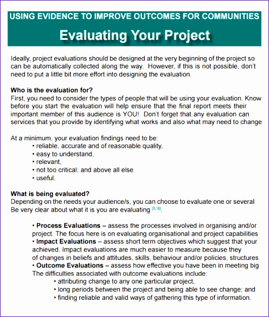 project evaluation 546644