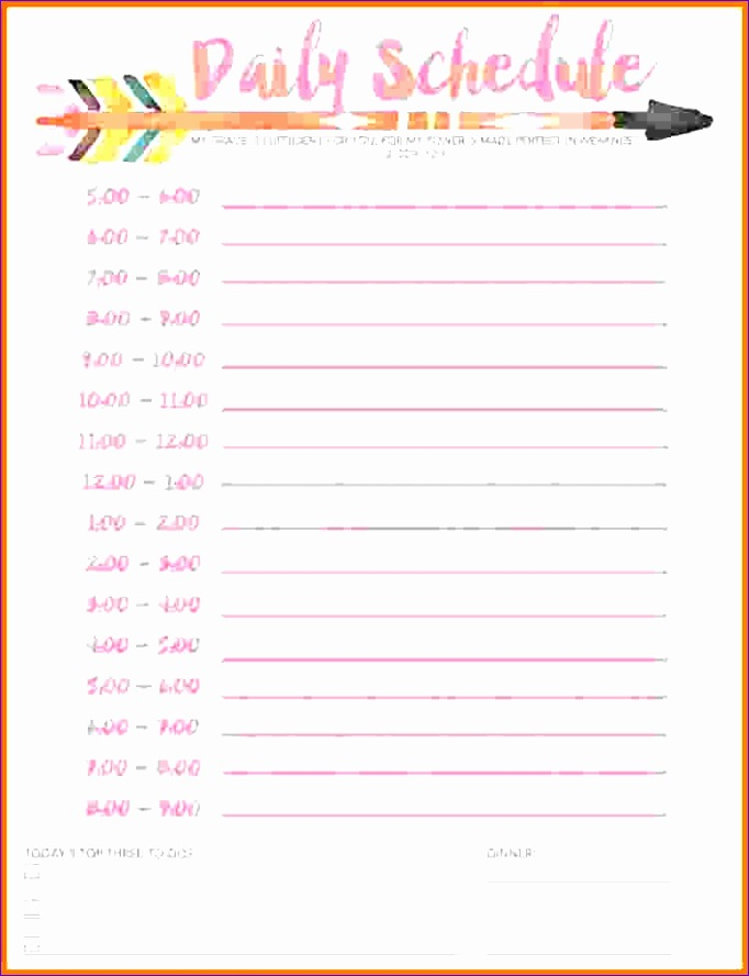11 printable daily schedule 682888
