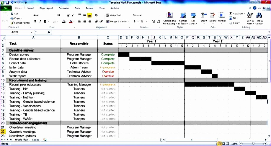 simple project plan template 918495