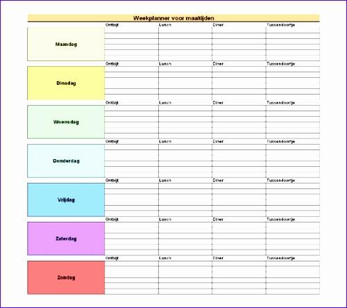 Weekplanner voor maaltijden TM 500443