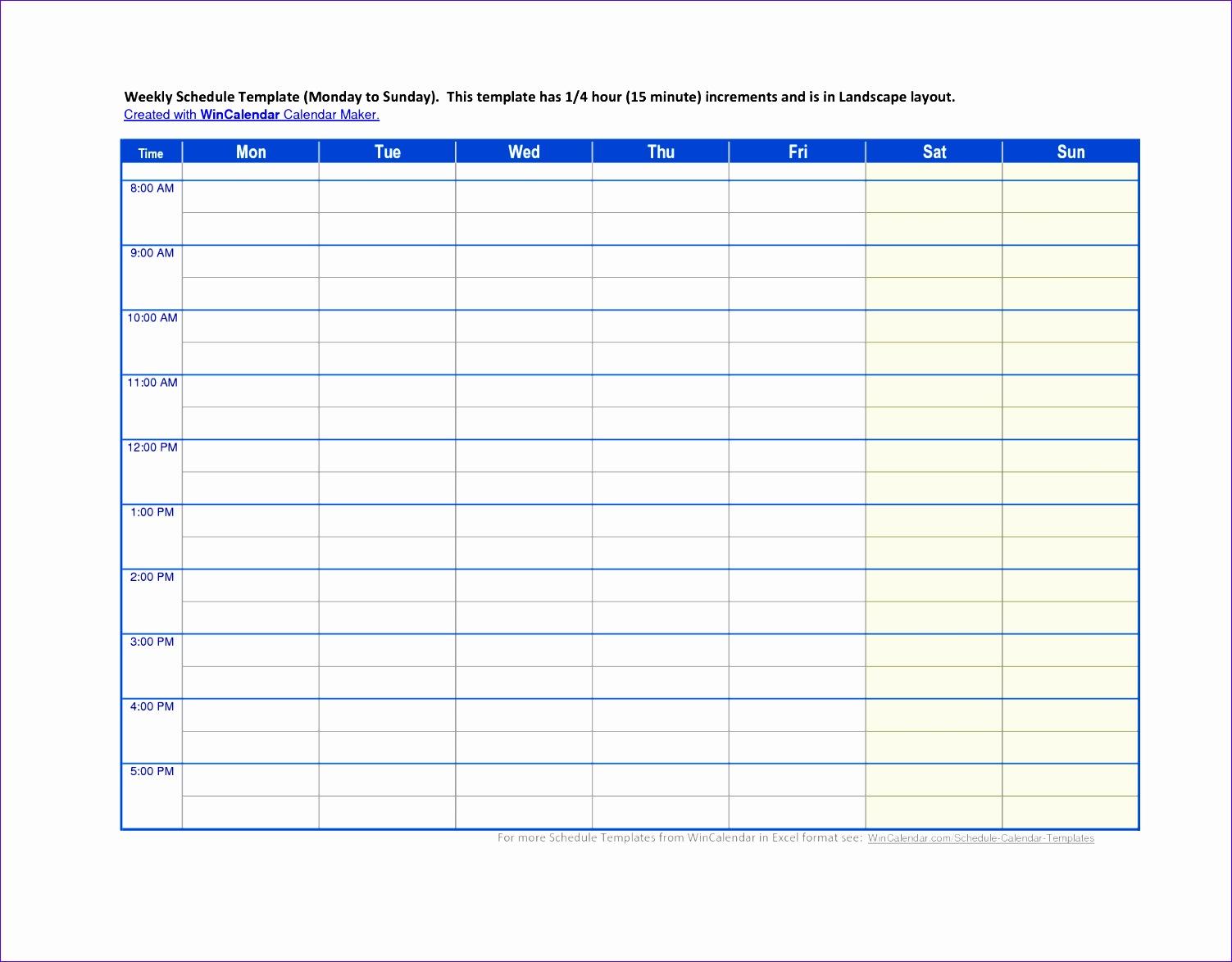 5 calendar schedule template 15031174