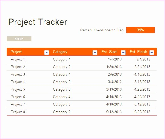 project tracking template 546460