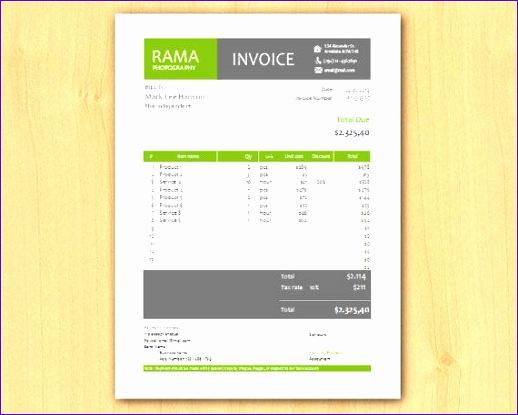 invoice design 518415
