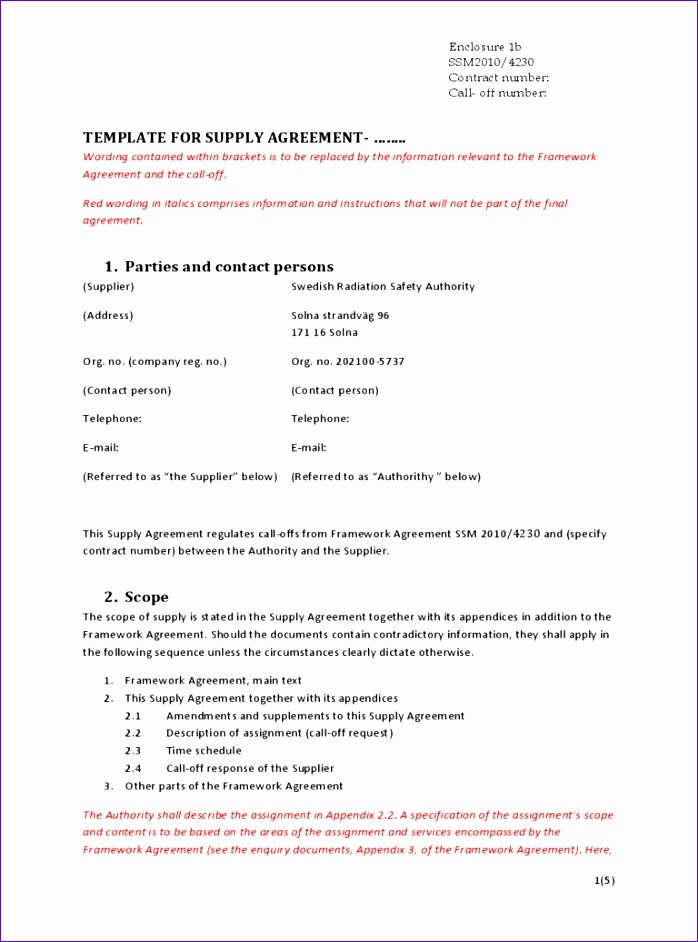 supply contract template 698942