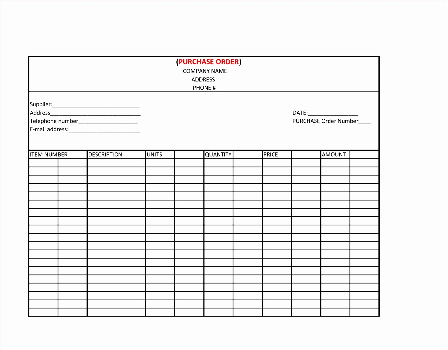 Purchase order Excel Template Lhdxa Luxury 6 Best Of Manufacturing Work order Template 16501275