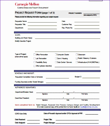 5 request form templates