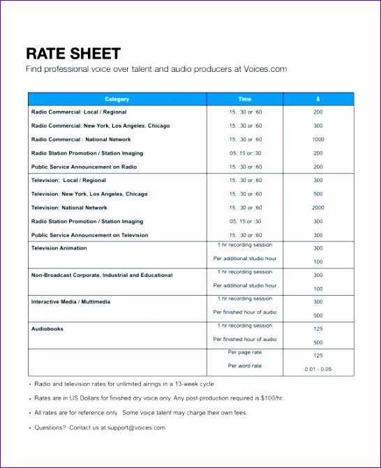 rate sheet 546671