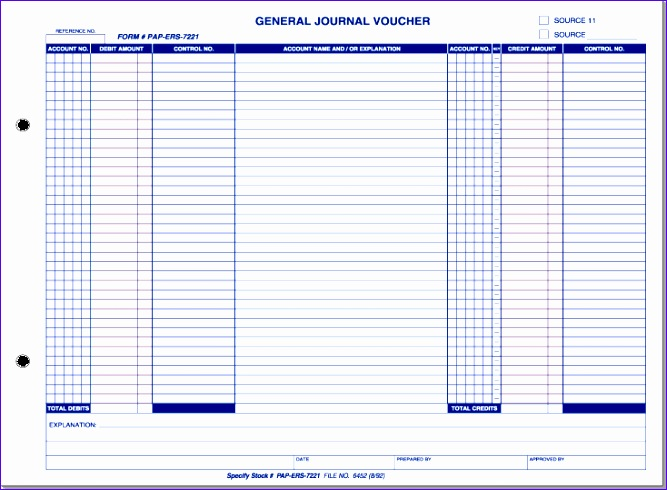 general journal voucher form 667490