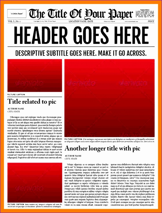 6 newspaper template for word 559735