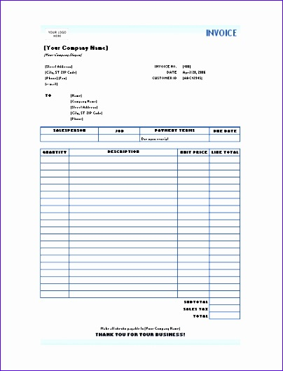 7 invoice format in excel free 404529