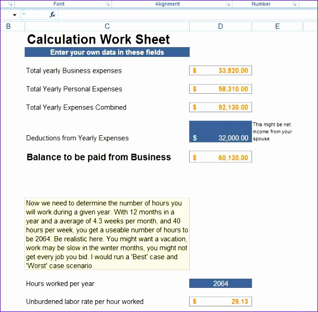 advanced excel know your costs