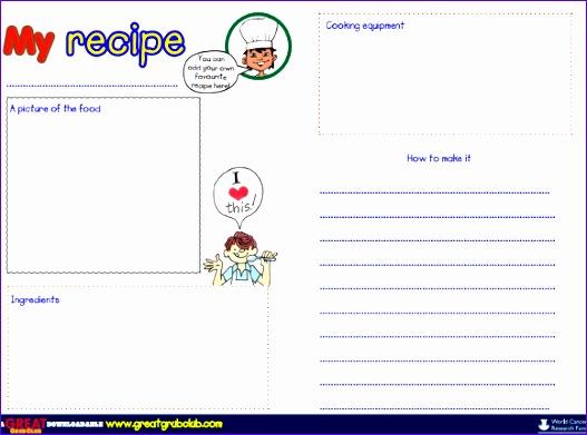blank recipe template 527391
