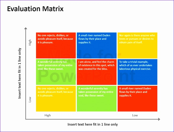 evaluation matrix editable powerpoint 728552