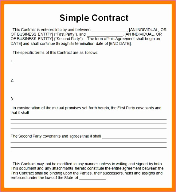 simple sales contracts 573625