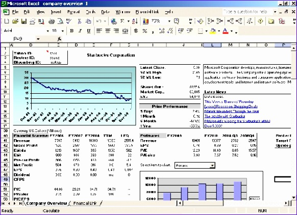overview financial link for excel 582422