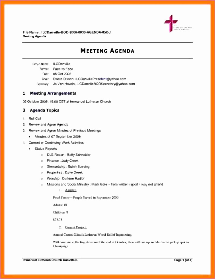 9 business meeting itinerary