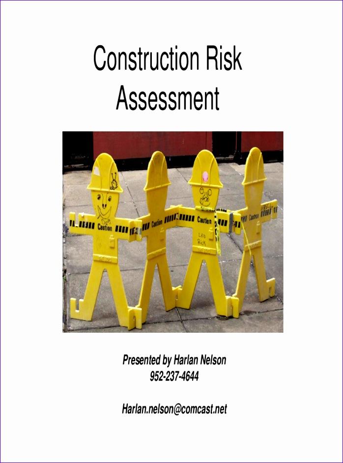 construction risk assessment template 698942