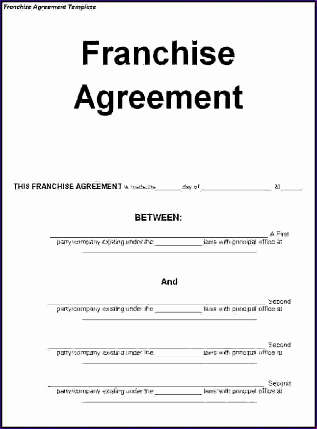 5 franchise agreement template 646873
