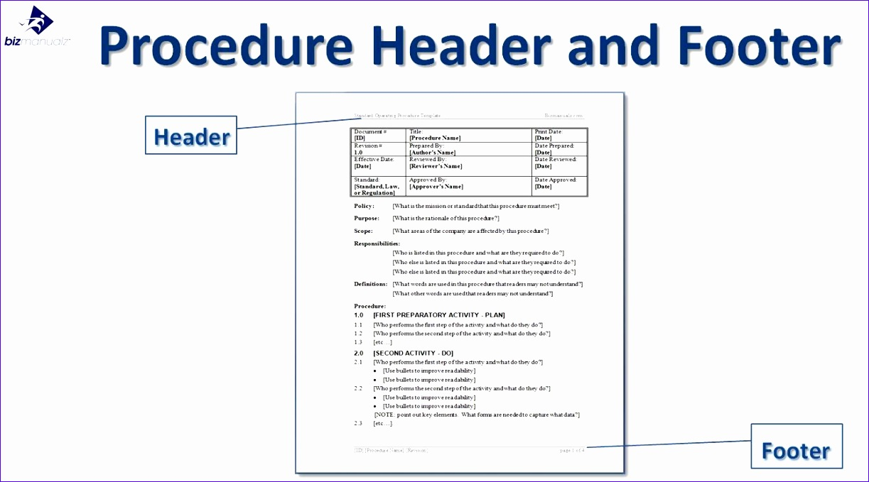 procedure manual template word of policy template for word policy 1223679