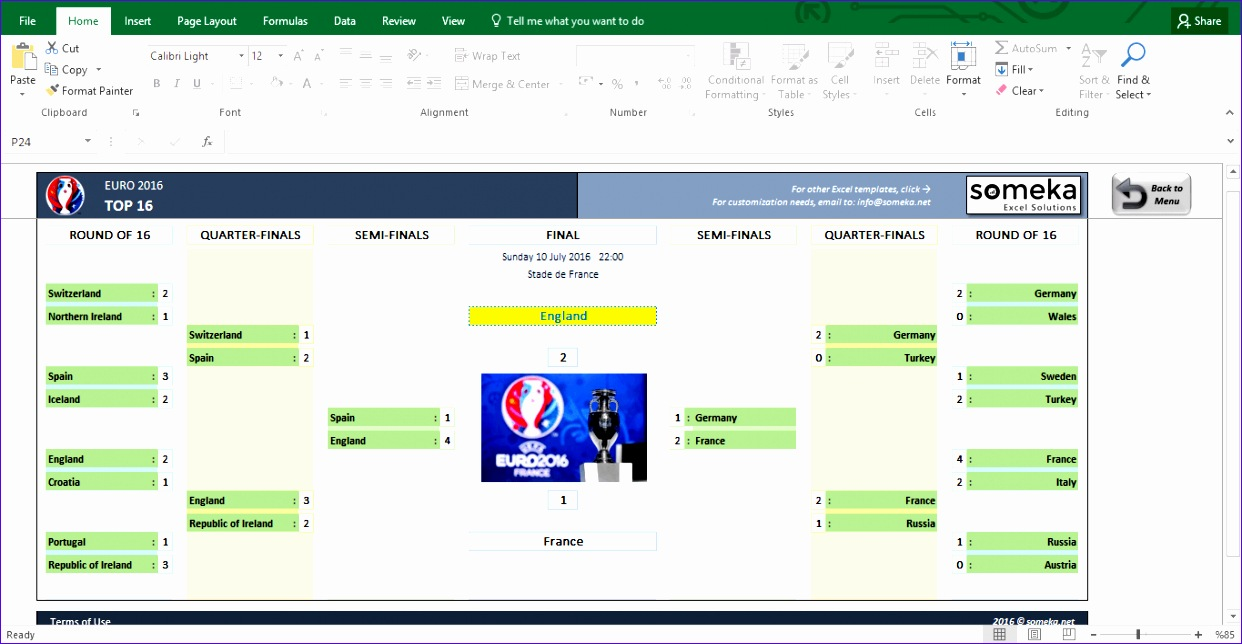 uefa euro 2016 excel template 1242644
