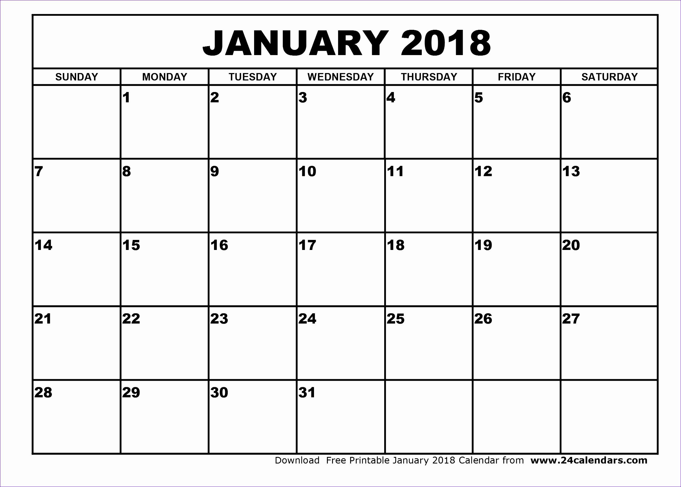 january 2018 calendar template 2275 23771699
