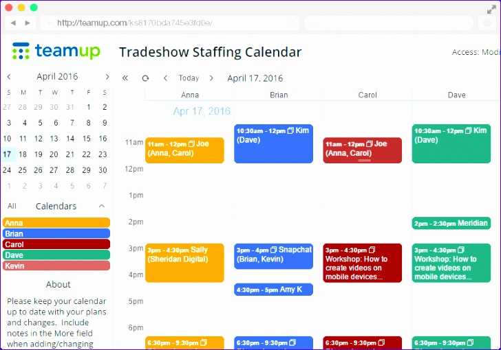 Resource Management Excel Template H7ejf Luxury Teamup Calendar Free Shared Online Calendar for Groups 800555