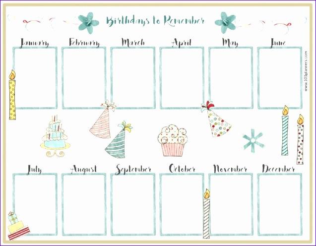 birthday calendar template 637496