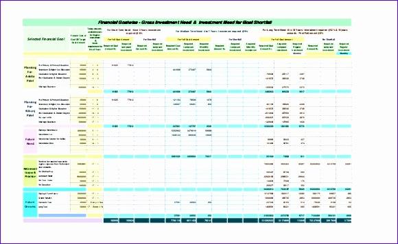 sample prehensive personal financial plan in excel spreadsheet 580356