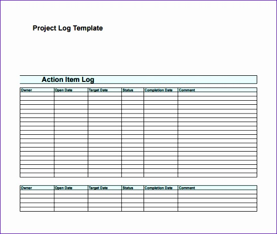 action log template 546460