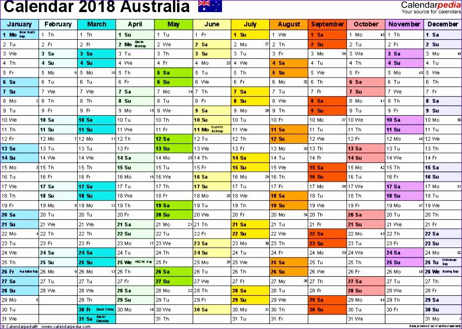 2018 calendar australia 3524 916654