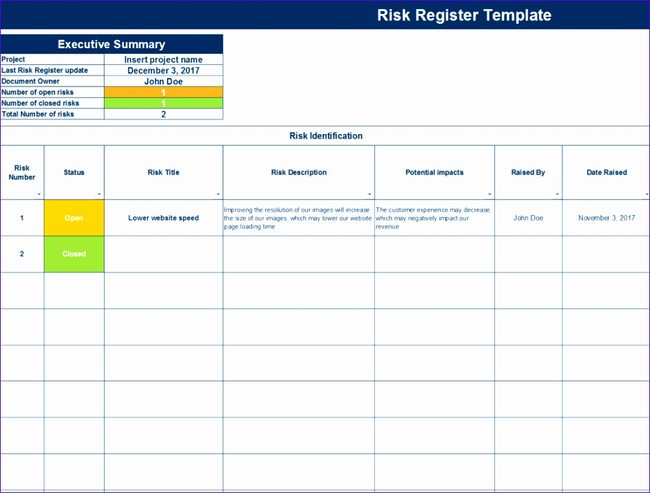 risk register template 931706