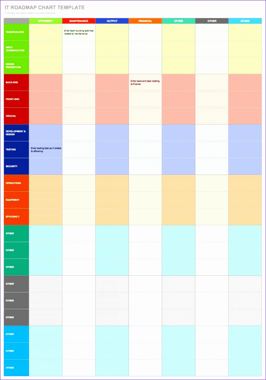 8 roadmap template excel - exceltemplates