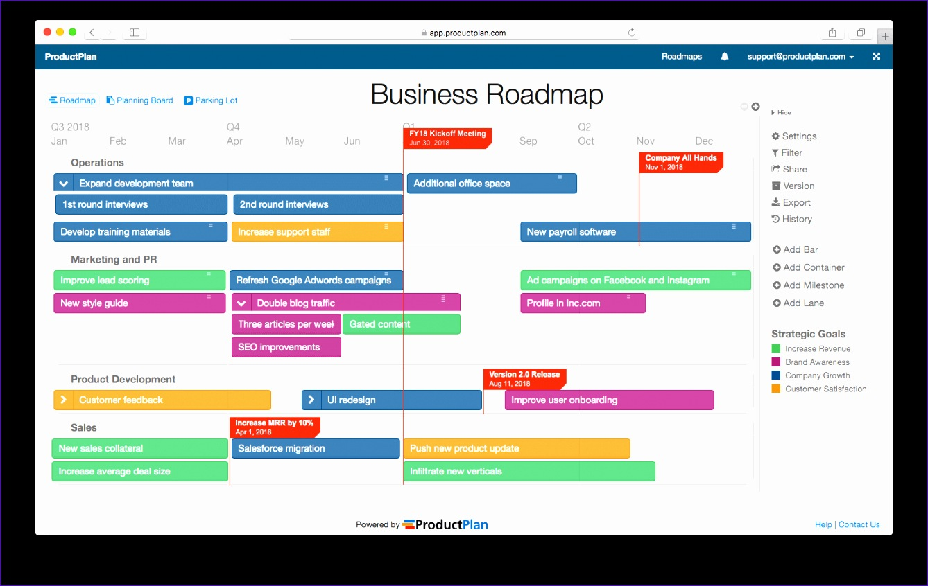8 roadmap template excel - excel templates