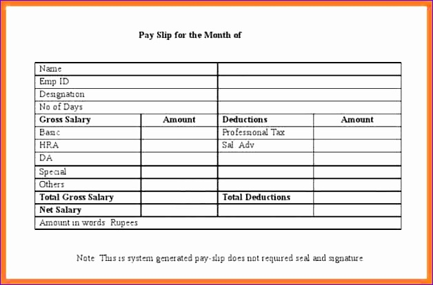 7 format for salary slip in word 628414