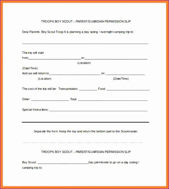 5 example permission slips 550617