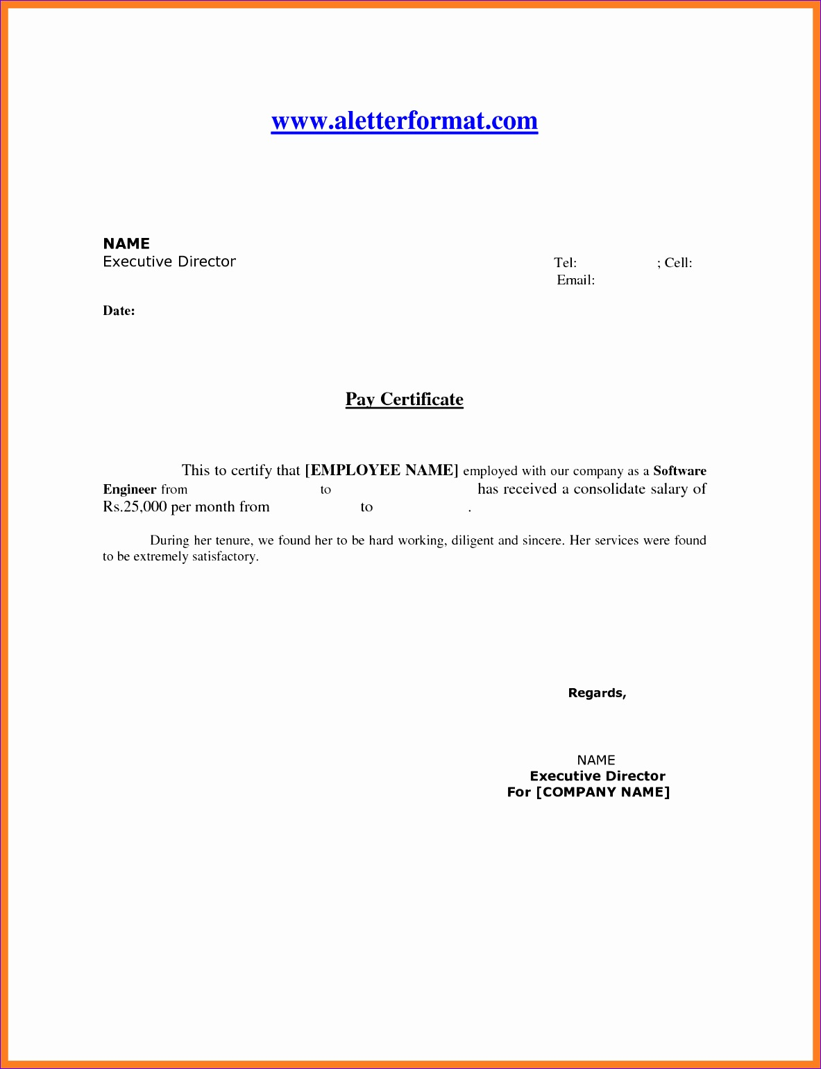 6 format for salary certificate 11831541