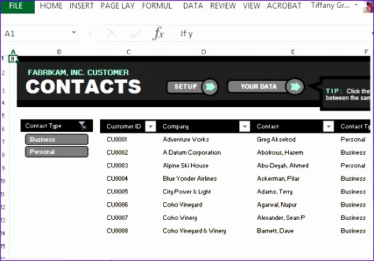 customer contact list template for excel 527368