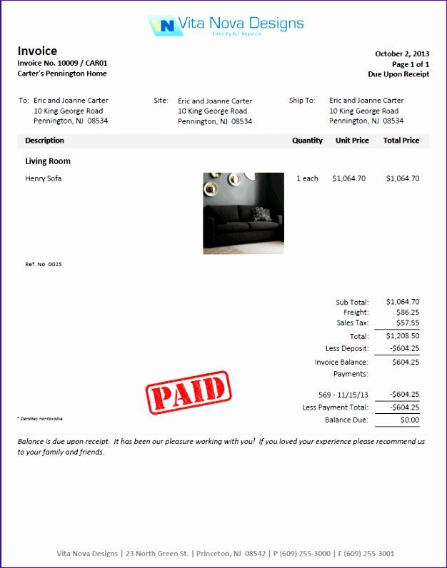 50 deposit invoice sample 1564