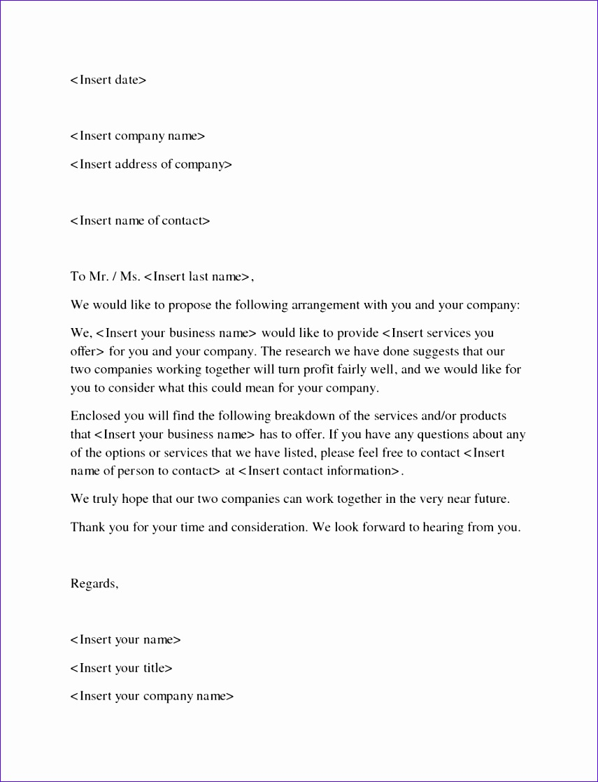 business proposal sample letters 8551118