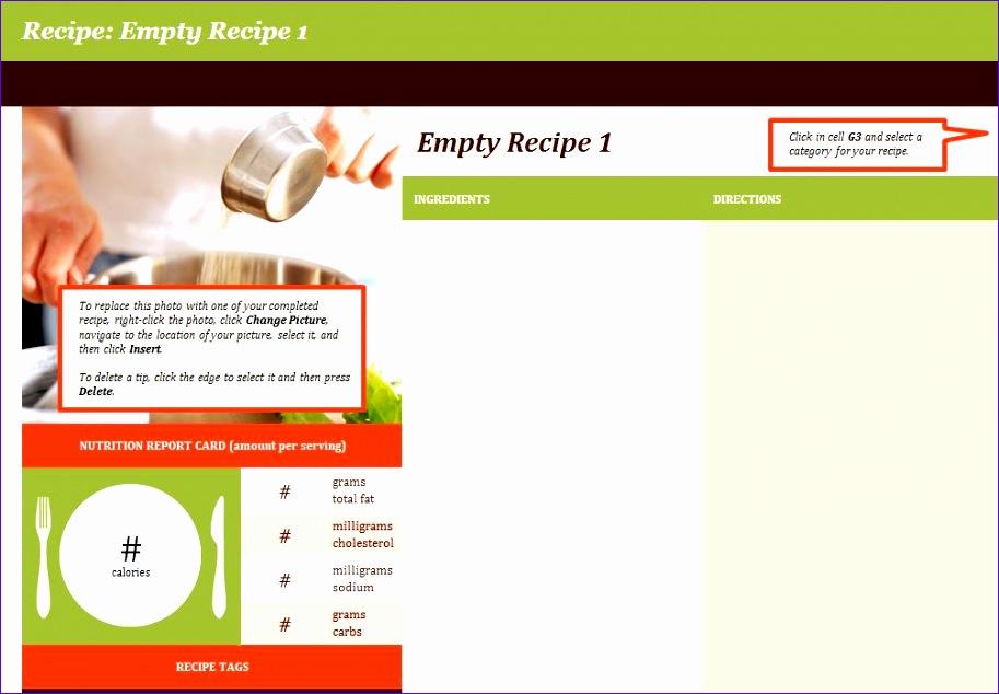 recipe template 913634