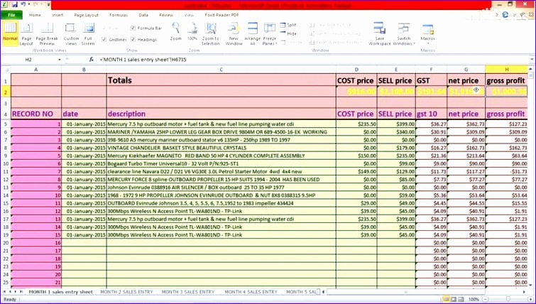 6 sales report template excel