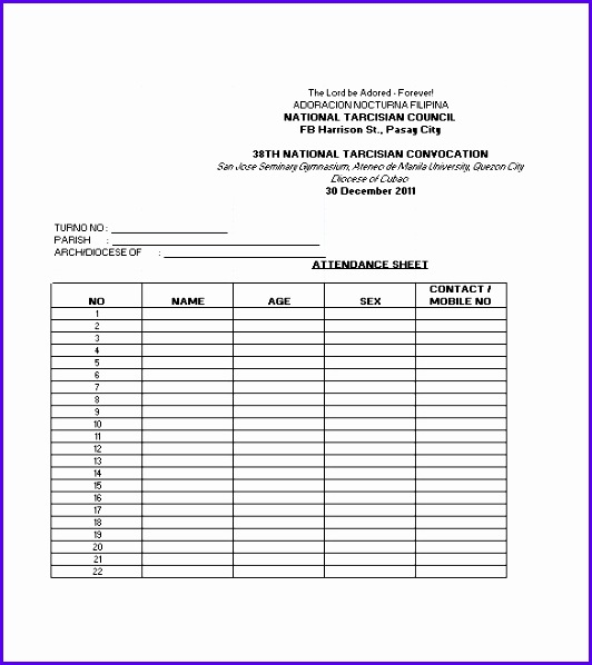 Attendance Sheet Template Excel  Exceltemplates  Exceltemplates