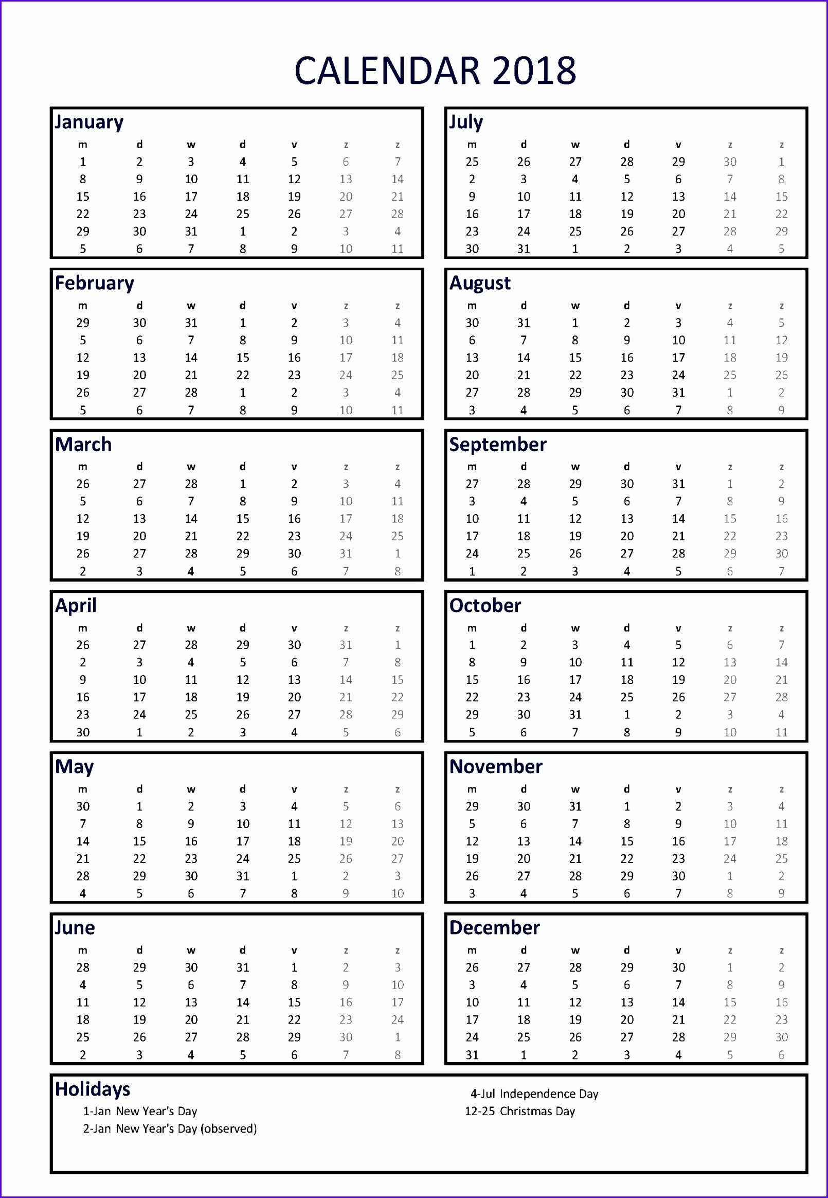 Annual Leave Planner Excel Template Fsuuz Awesome Free 2018 Calendar A3 Portrait Ms Excel Template 16102328