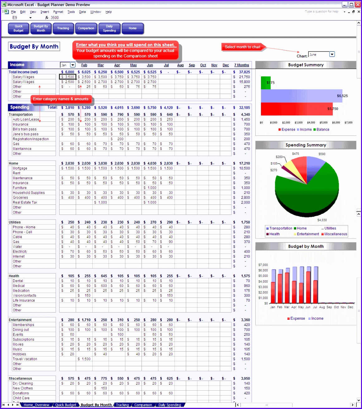 bud excel spreadsheet 4