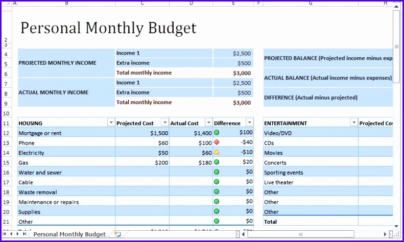 Personal Monthly Bud Template & WAY MORE useful Excel Templates 791474