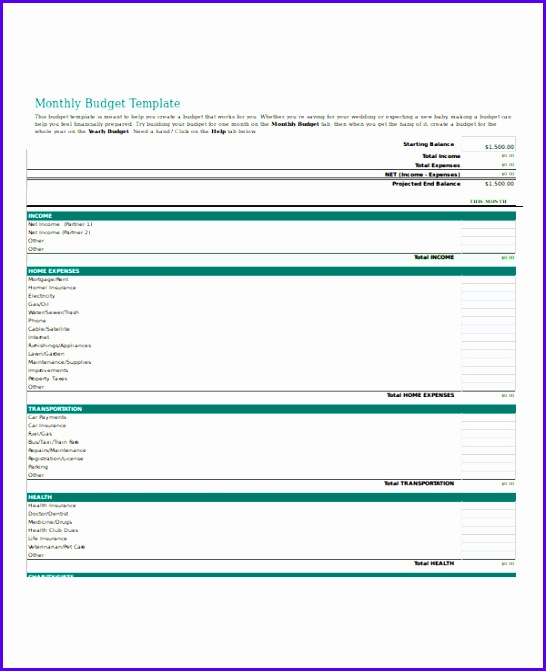 Business Bud Template Excel 546671