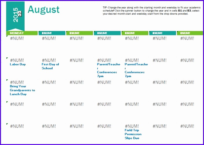 Sample Calendar Template 2015 Excel S6ve4 New Weekly Calendar