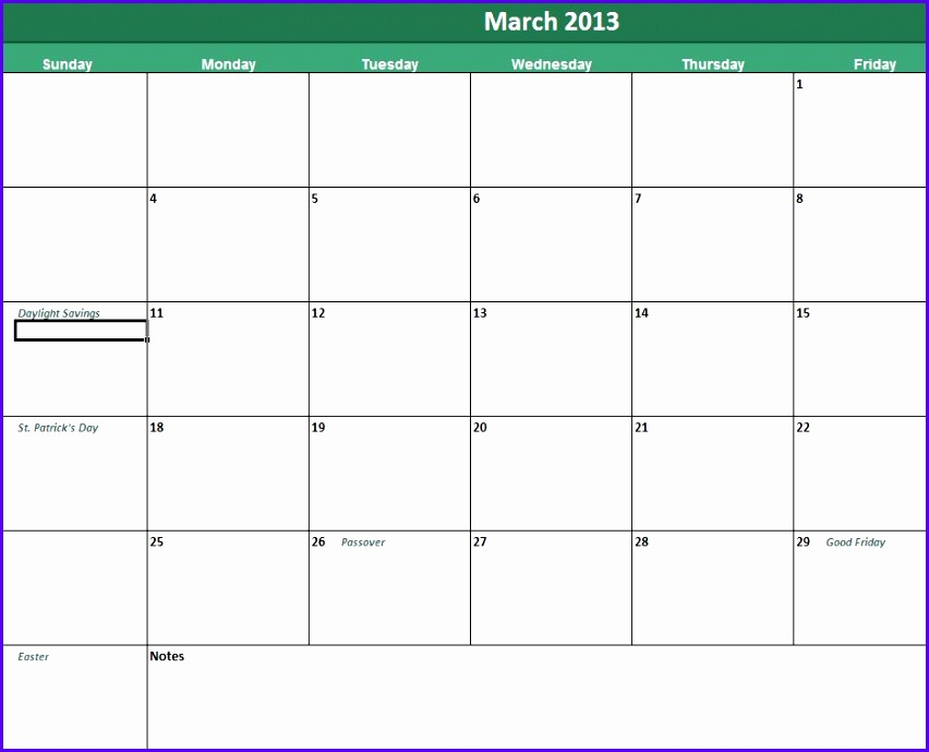 Daily Calendar Template 852689