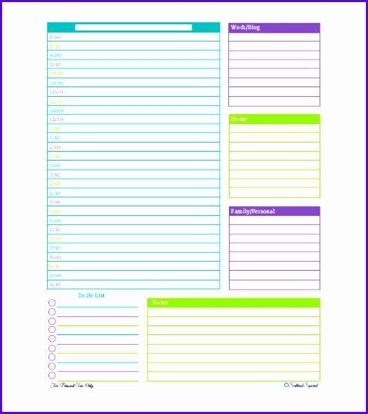 Free Personalized Daily Planner PDF Format 532598