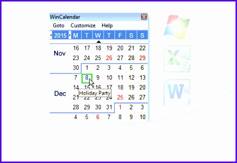Free Windows Calendar and Date Picker 485334